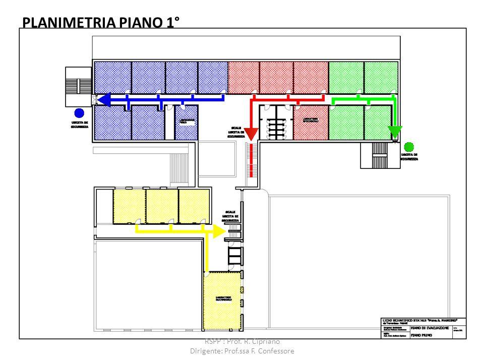 PLANIMETRIA PIANO 1° RSPP : Prof. R. Cipriano Dirigente: Prof.ssa F. Confessore