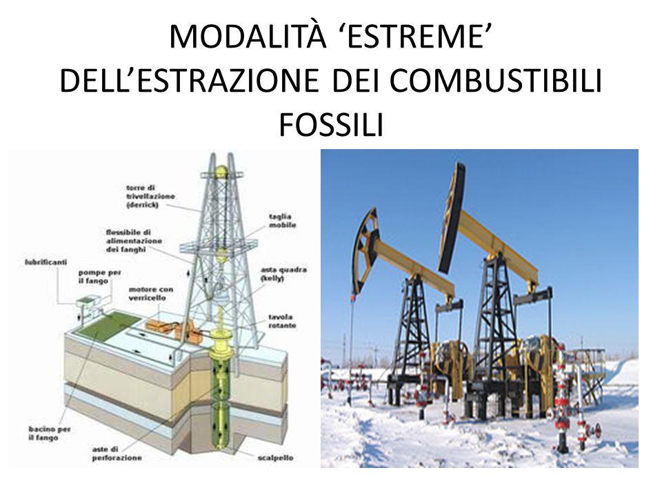 MODALITÀ 'ESTREME' DELL'ESTRAZIONE DEI COMBUSTIBILI FOSSILI