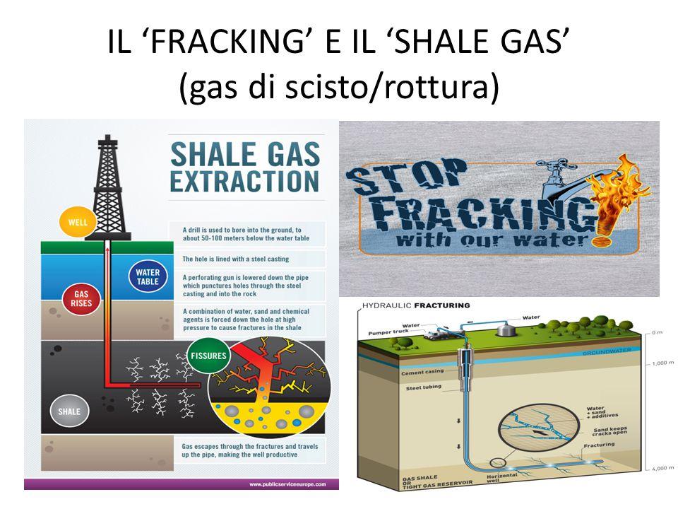 IL 'FRACKING' E IL 'SHALE GAS' (gas di scisto/rottura)