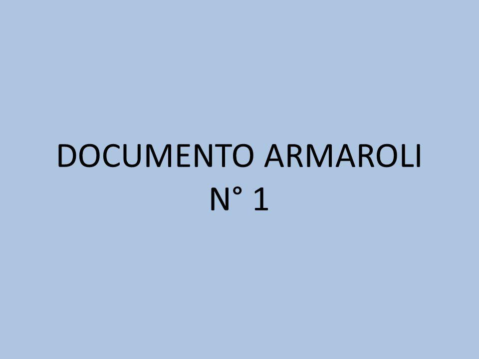 DOCUMENTO ARMAROLI N° 1