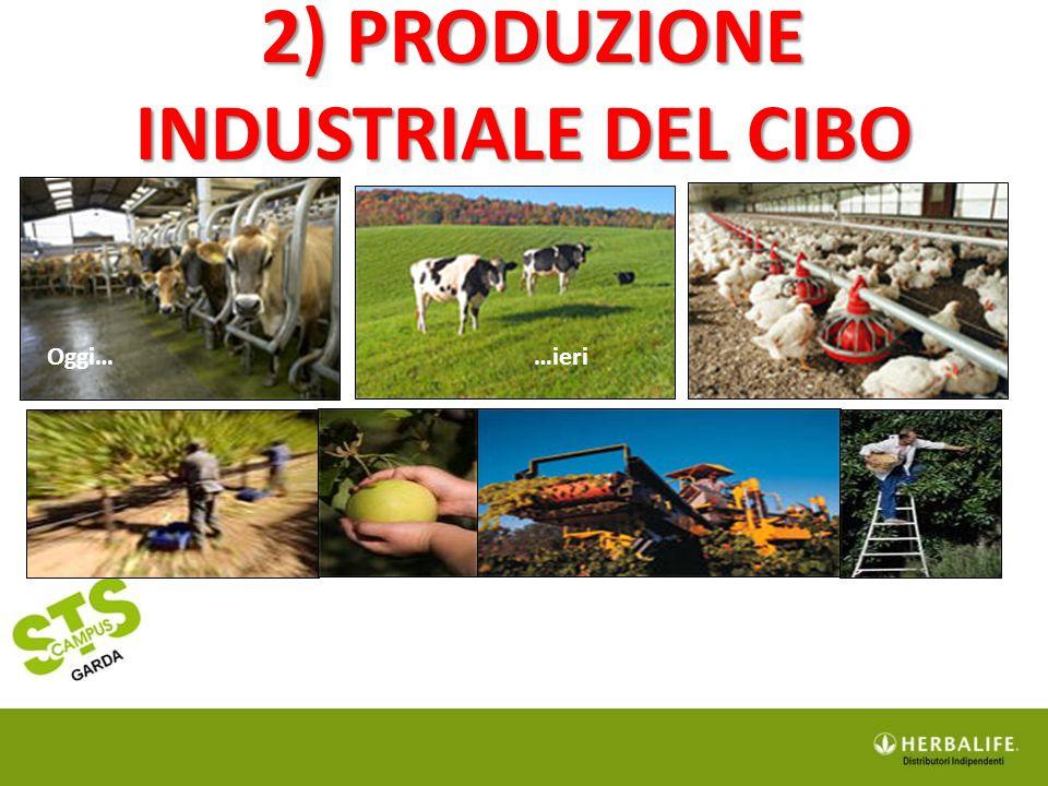 2) PRODUZIONE INDUSTRIALE DEL CIBO 2) PRODUZIONE INDUSTRIALE DEL CIBO Oggi……ieri