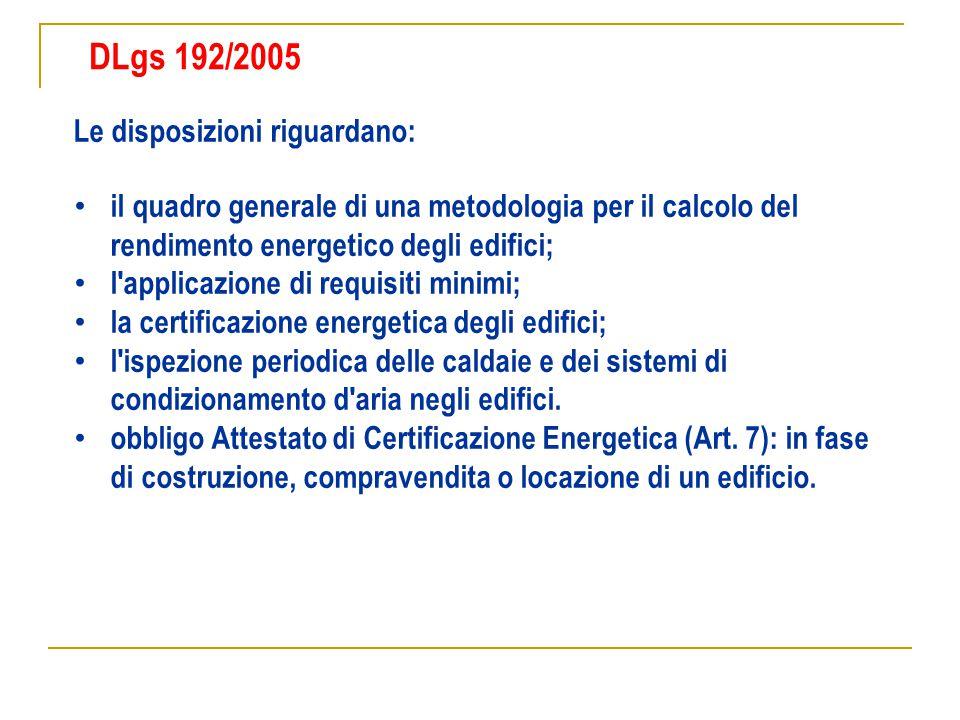 Le disposizioni riguardano: il quadro generale di una metodologia per il calcolo del rendimento energetico degli edifici; l'applicazione di requisiti
