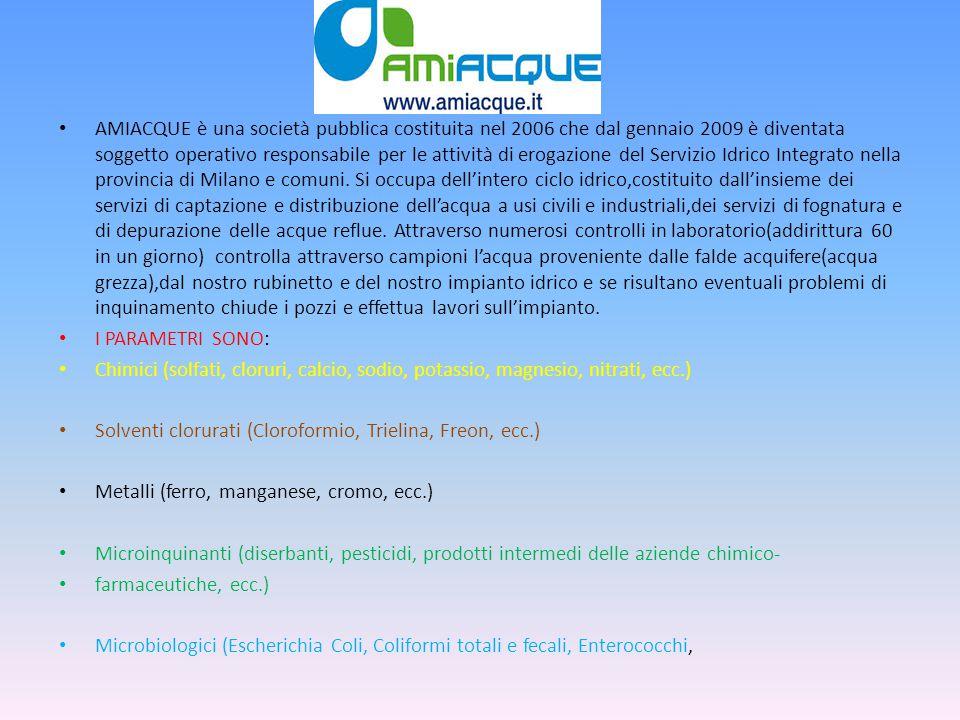 AMIACQUE è una società pubblica costituita nel 2006 che dal gennaio 2009 è diventata soggetto operativo responsabile per le attività di erogazione del