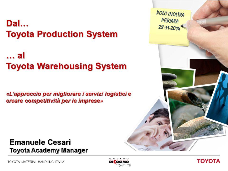 TOYOTA MATERIAL HANDLING ITALIA 1 POLO INOLTRA PESCARA28-11-2014 Dal… Toyota Production System … al Toyota Warehousing System «L'approccio per miglior