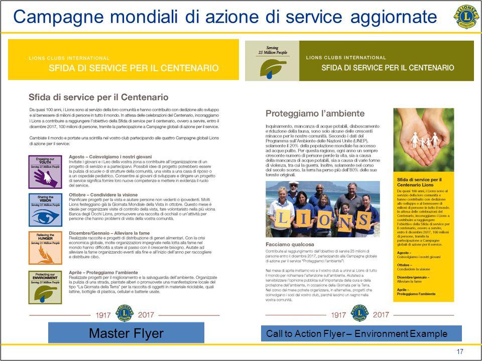 17 Campagne mondiali di azione di service aggiornate Call to Action Flyer – Environment Example