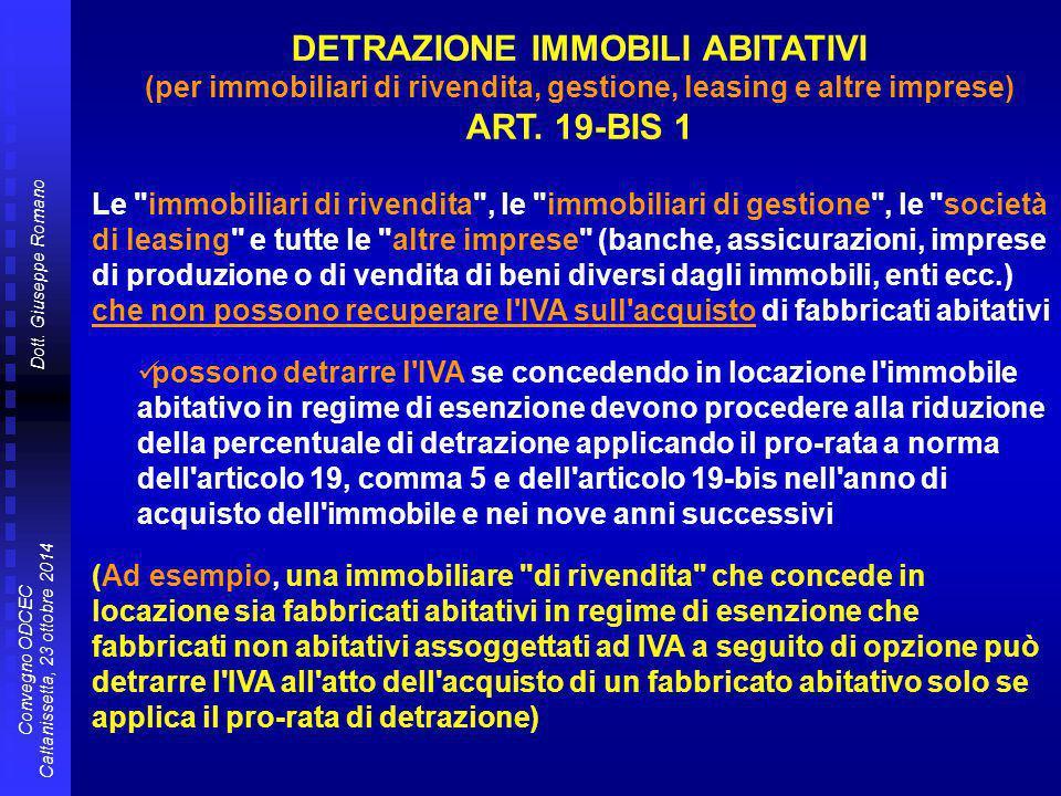 Dott. Giuseppe Romano Convegno ODCEC Caltanissetta, 23 ottobre 2014 Le