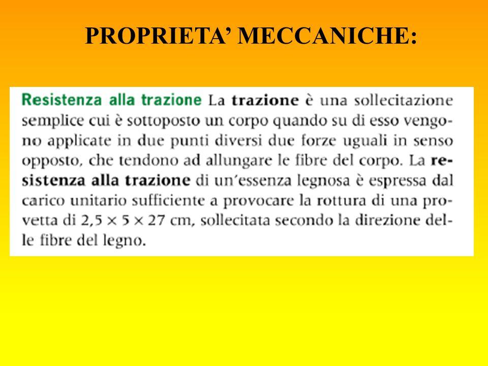 PROPRIETA' MECCANICHE: