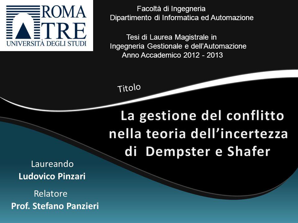 Laureando Ludovico Pinzari Relatore Prof. Stefano Panzieri Facoltà di Ingegneria Dipartimento di Informatica ed Automazione Tesi di Laurea Magistrale