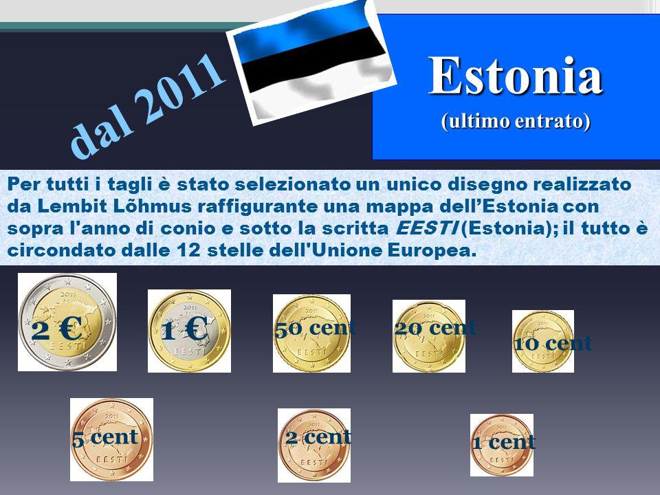 1 cent 2 cent 5 cent 2 € 1 € 50 cent 20 cent 10 cent Sui centesimi di oro nordico è raffigurato il castello di Bratislava. Sulle monete da 1 e 2 € è r