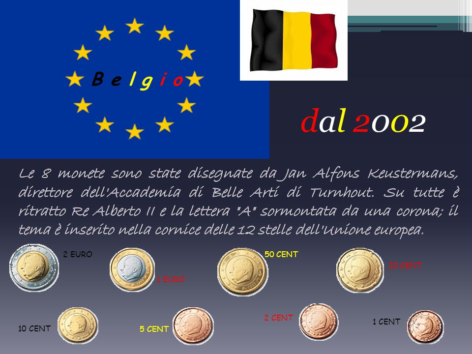 2 euro 1 euro 50 centesimi 20 centesimi 10 centesimi 5 centesimi 2 centesimi 1 centesimo la Porta di Brandeburgo, simbolo della divisione tra le due G