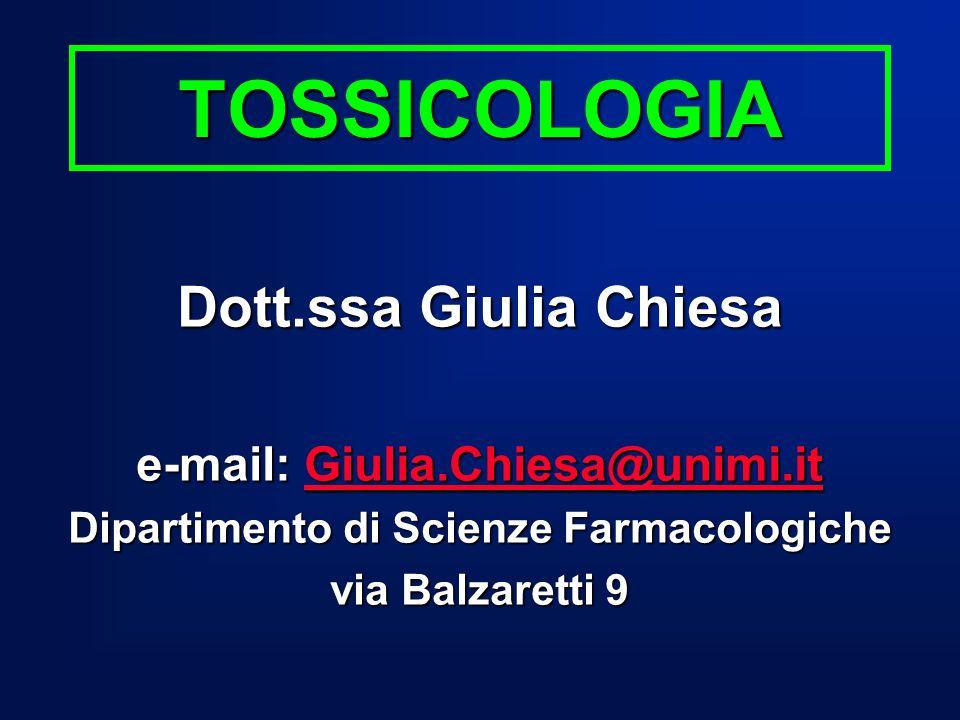 Testo di consultazione: Casarett & Doull's TOXICOLOGY
