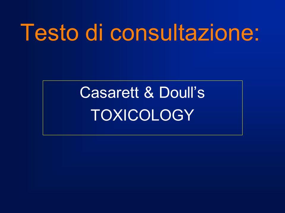 reversibili scompaiono al cessare dell'esposizione al tossico irreversibili permangono o aumentano dopo che l'esposizione e' terminata GLI EFFETTI TOSSICI LA CLASSIFICAZIONE