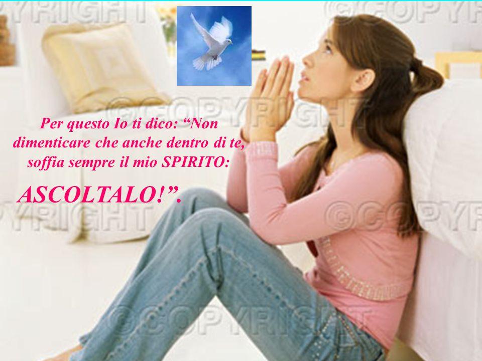 Poi dissi di nuovo: Sono qui per darvi pace e serenità: e perchè come il Padre ha mandato me, ora Io mando voi! .
