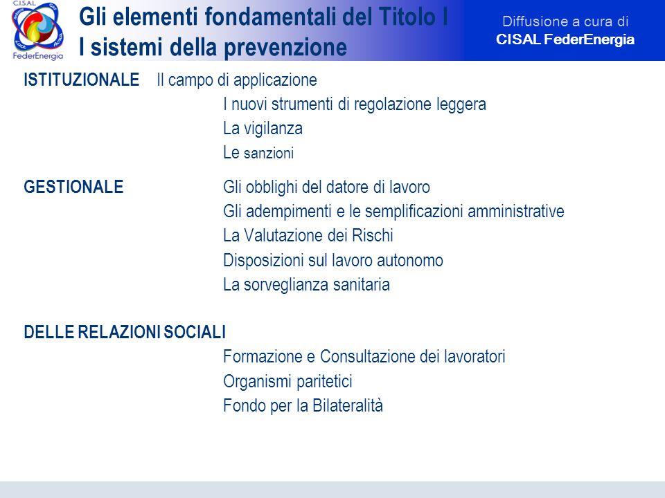 Diffusione a cura di CISAL FederEnergia Rapporti Bilaterali e Consultazione dei lavoratori: O.P.