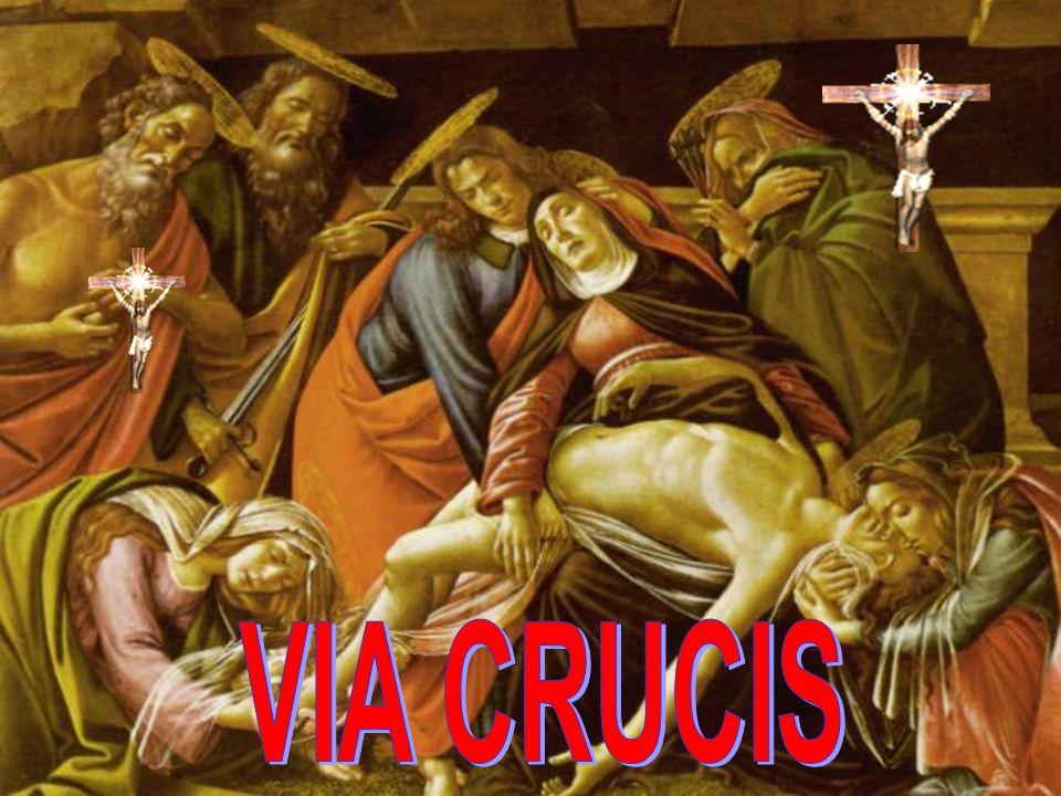 XI – GESU' E' INCHIODATO SULLA CROCE Liberandoci attraverso la sofferenza della croce, Gesù sapeva che, molte volte, anche noi avremmo dovuto affrontare la croce per restare fedeli al nostro battesimo.