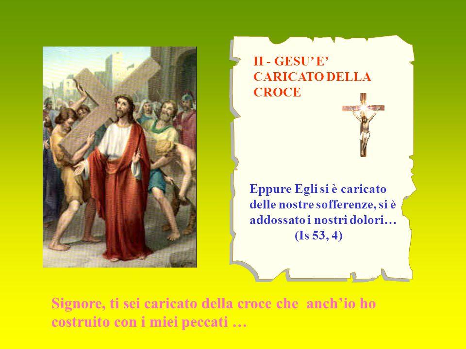 XIII – GESU' E' DEPOSTO DALLA CROCE Oh Maria, fino a quando continuerai a piangere per gli altri membri morti del Corpo mistico del tuo Figlio.
