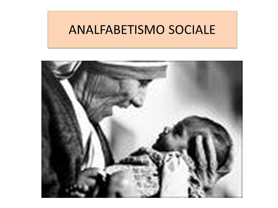 ANALFABETISMO SOCIALE