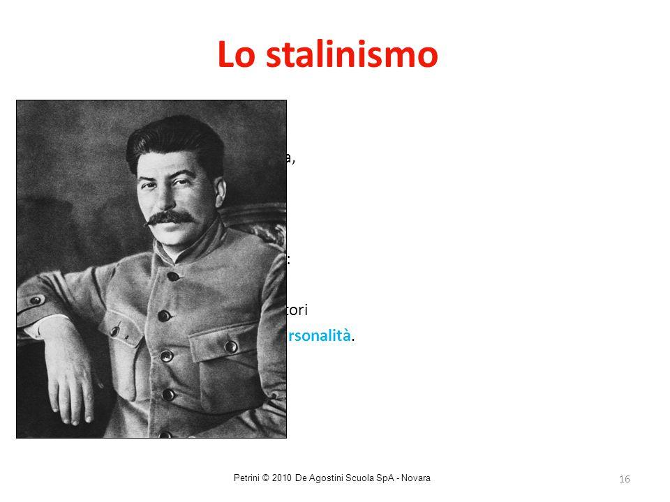 16 Lo stalinismo Da una sanguinosa guerra civile (1918-22), nasce l'Unione Sovietica, uno Stato comunista dove Stalin impone la sua spietata dittatura