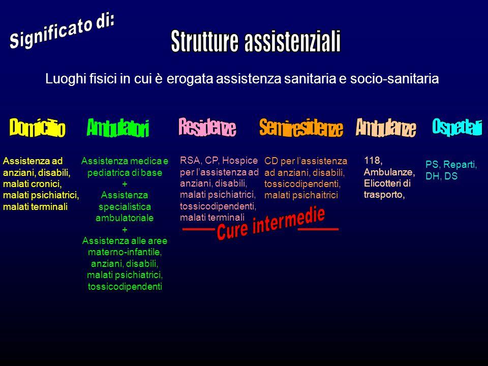 Assistenza ad anziani, disabili, malati cronici, malati psichiatrici, malati terminali Assistenza medica e pediatrica di base + Assistenza specialisti