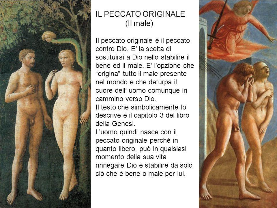 IL PECCATO ORIGINALE (Il male) Il peccato originale è il peccato contro Dio.