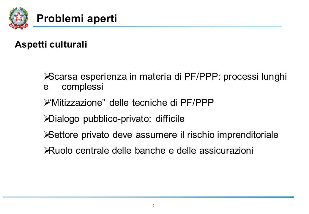 18 Caso di studio: Il Ponte di Messina  Iter  L.144/99  progetto campione advisor  Marzo 2000  affidamento contratti advisor advisor  Gennaio 2001  conclusione studi advisor + relazione Min.