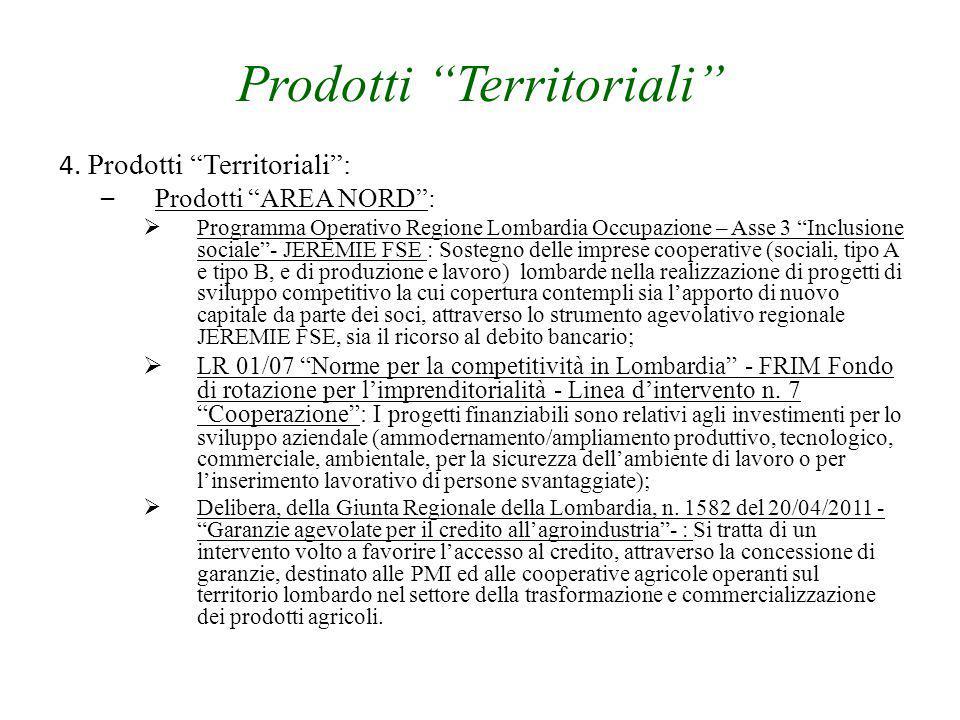 """Prodotti """"Territoriali"""" 4. Prodotti """"Territoriali"""": – Prodotti """"AREA NORD"""":  Programma Operativo Regione Lombardia Occupazione – Asse 3 """"Inclusione s"""