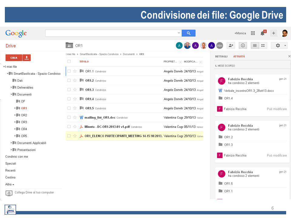 Condivisione dei file: Google Drive 6