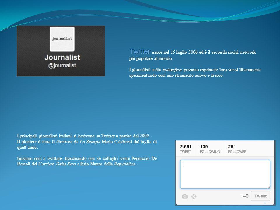 Twitter Twitter nasce nel 15 luglio 2006 ed è il secondo social network più popolare al mondo.