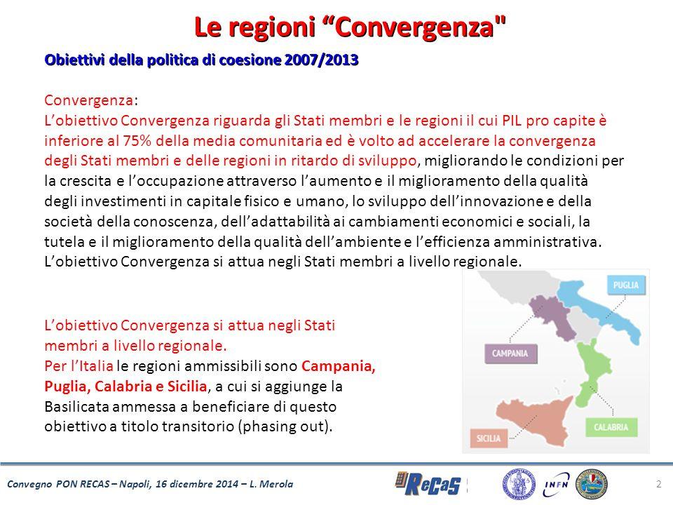 "2 Le regioni ""Convergenza"