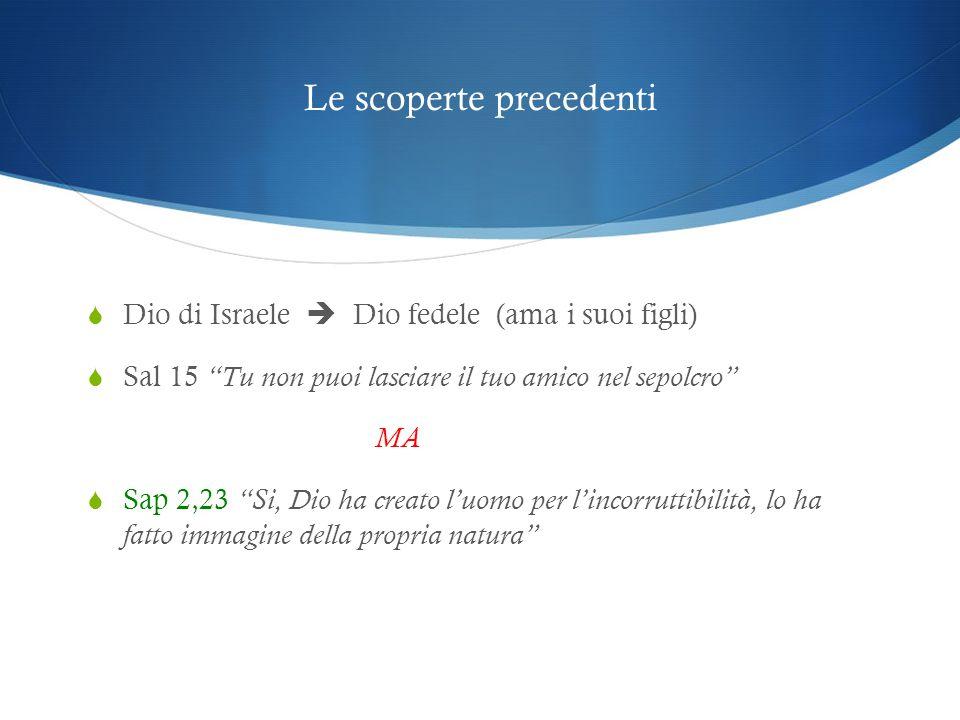 Sap 3,1-5  La soluzione si trova appoggiandosi alla certezza dell'aldilà.