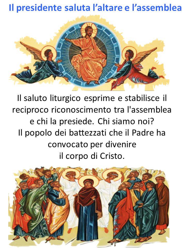Il saluto liturgico esprime e stabilisce il reciproco riconoscimento tra l assemblea e chi la presiede.