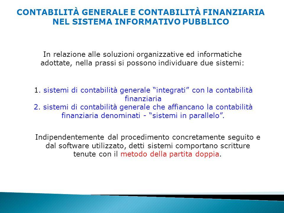 In relazione alle soluzioni organizzative ed informatiche adottate, nella prassi si possono individuare due sistemi: 1.