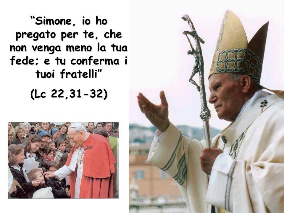 """""""Simone, io ho pregato per te, che non venga meno la tua fede; e tu conferma i tuoi fratelli"""" (Lc 22,31-32)"""