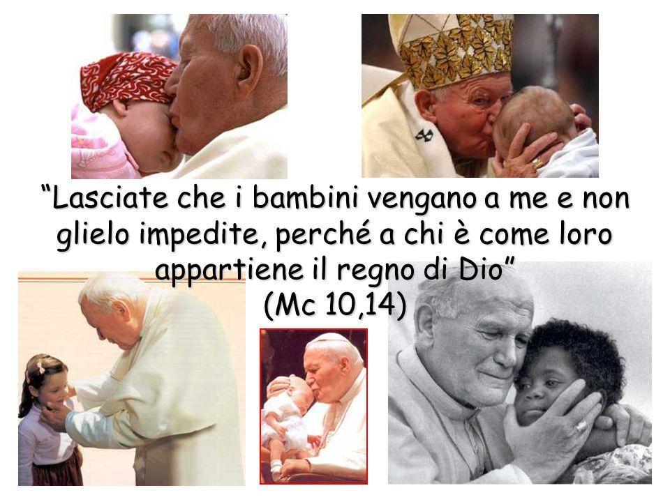 """""""Lasciate che i bambini vengano a me e non glielo impedite, perché a chi è come loro appartiene il regno di Dio"""" (Mc 10,14)"""