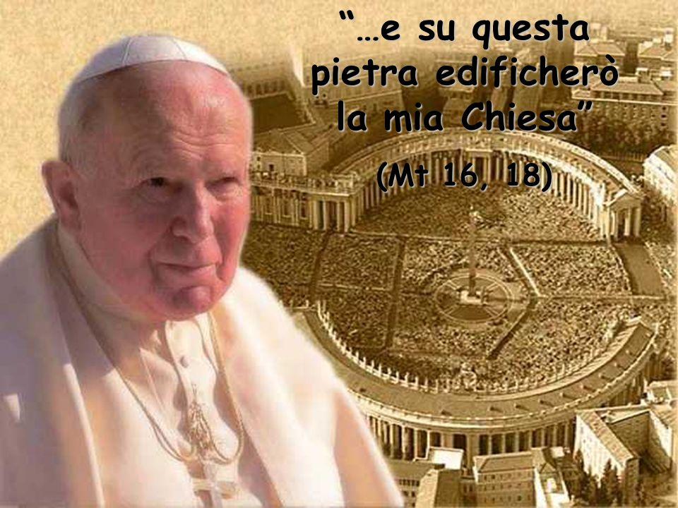 """""""…e su questa pietra edificherò la mia Chiesa"""" (Mt 16, 18)"""
