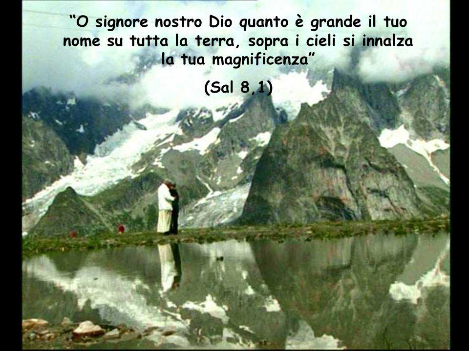 """""""O signore nostro Dio quanto è grande il tuo nome su tutta la terra, sopra i cieli si innalza la tua magnificenza"""" (Sal 8,1)"""