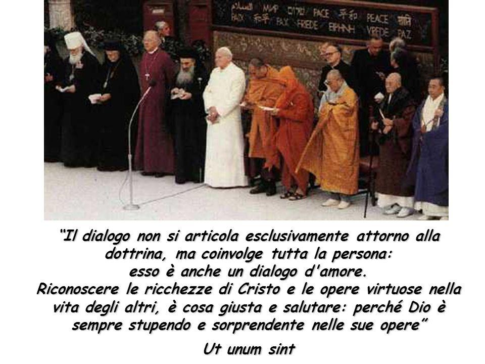 """""""Il dialogo non si articola esclusivamente attorno alla dottrina, ma coinvolge tutta la persona: esso è anche un dialogo d'amore. Riconoscere le ricch"""