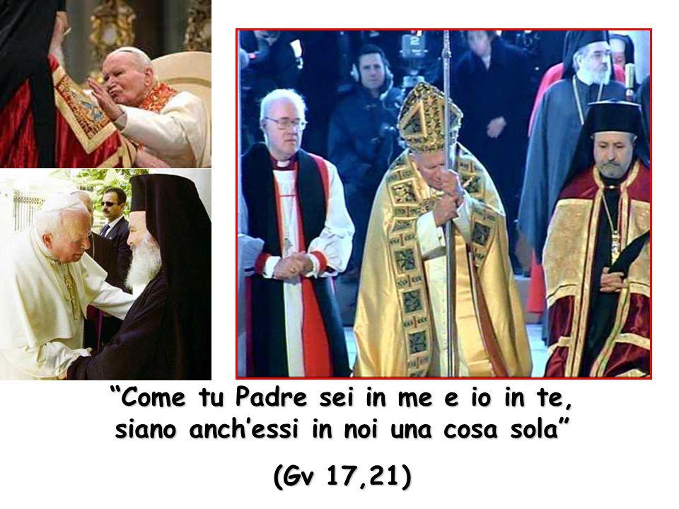 """""""Come tu Padre sei in me e io in te, siano anch'essi in noi una cosa sola"""" (Gv 17,21)"""