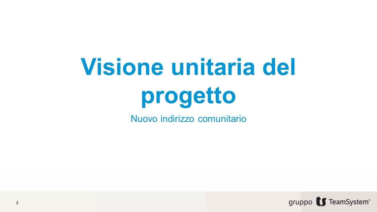 Visione unitaria del progetto Nuovo indirizzo comunitario 2