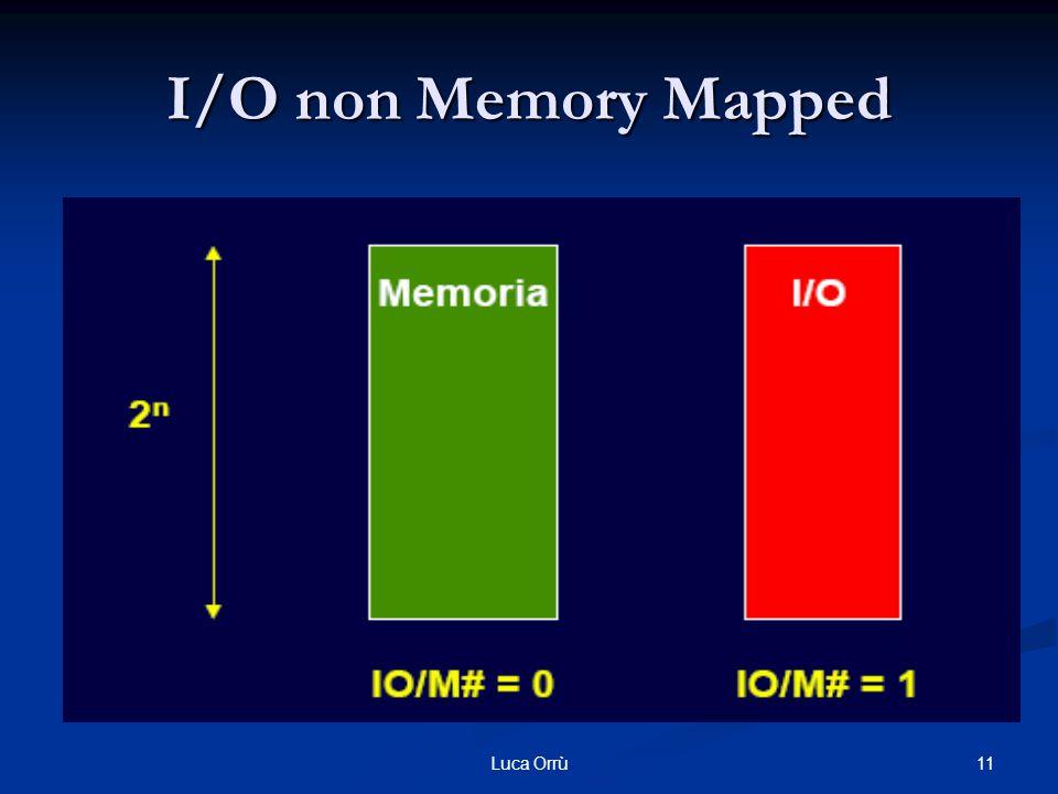 11Luca Orrù I/O non Memory Mapped
