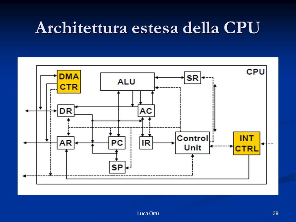 Architettura estesa della CPU 39Luca Orrù