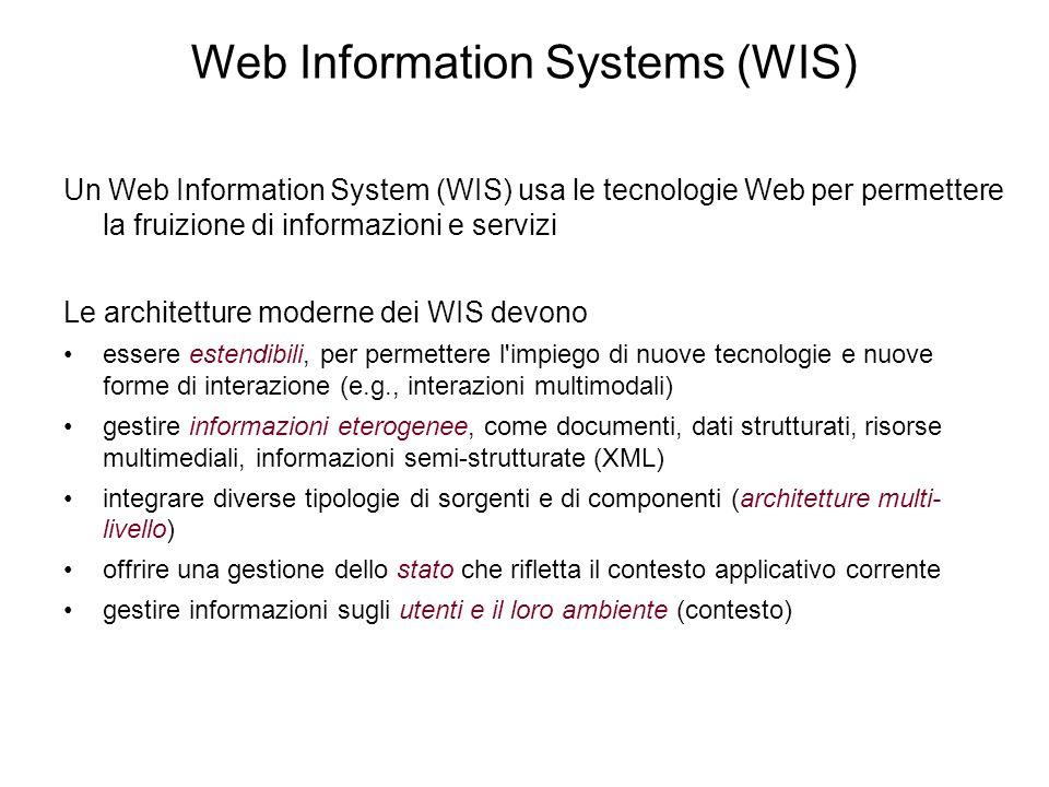 Server-side scripting (JSP) Idea: inserire istruzioni per il calcolo dei contenuti dinamici all'interno della pagina HTML Il codice è interpretato dal server <HTML><BODY> ….