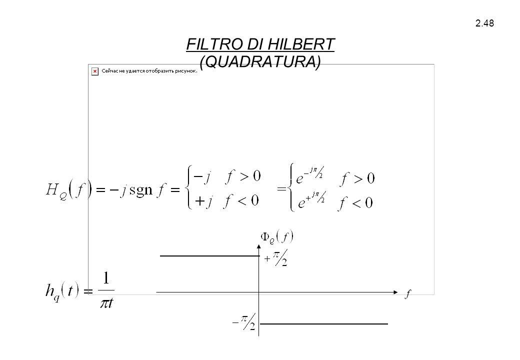 2.48 f FILTRO DI HILBERT (QUADRATURA)