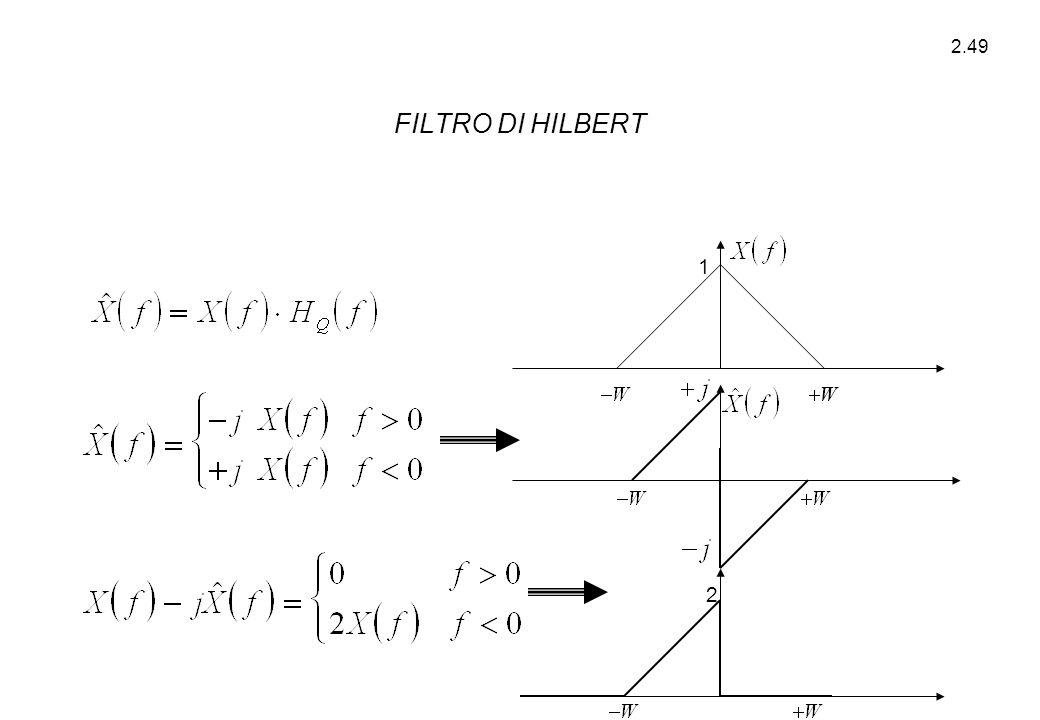 2.49 1 2 FILTRO DI HILBERT
