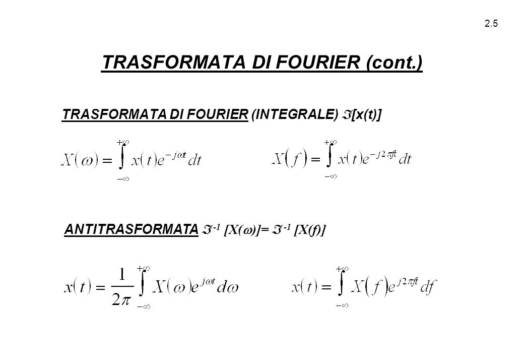 2.36 ZERI :N.B.: FASE NULLA (x(t) PARI).