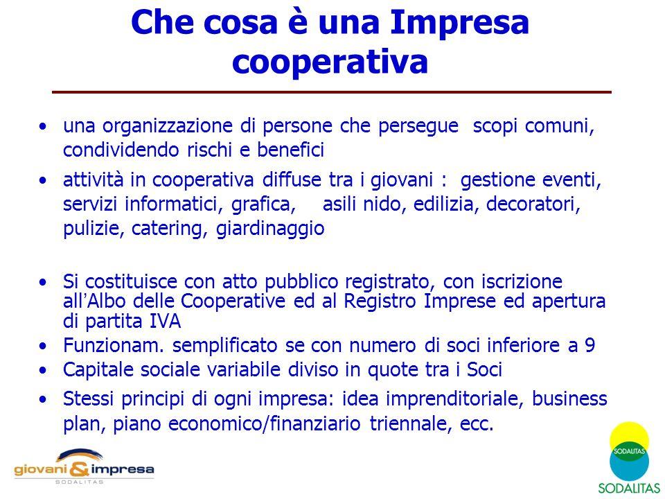 Che cosa è una Impresa cooperativa una organizzazione di persone che persegue scopi comuni, condividendo rischi e benefici attività in cooperativa dif
