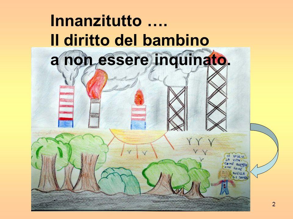 2 Innanzitutto …. Il diritto del bambino a non essere inquinato.