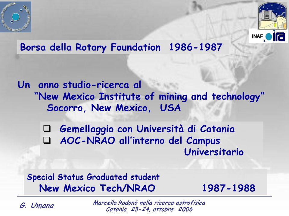 Marcello Rodonò nella ricerca astrofisica Catania 23-24, ottobre 2006 G. Umana