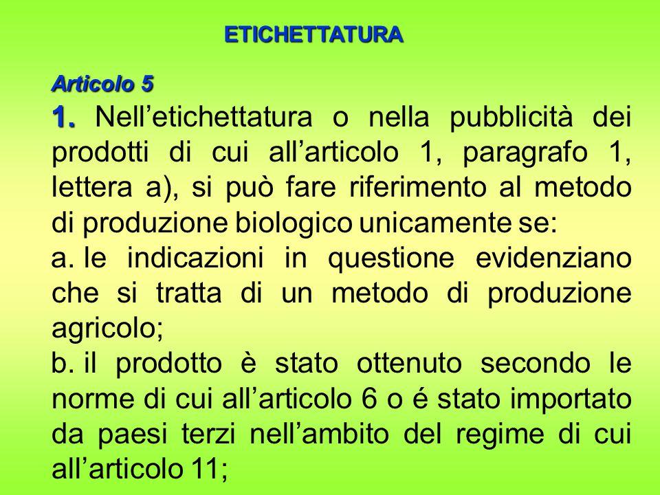 Articolo 5 Articolo 5 1.1.