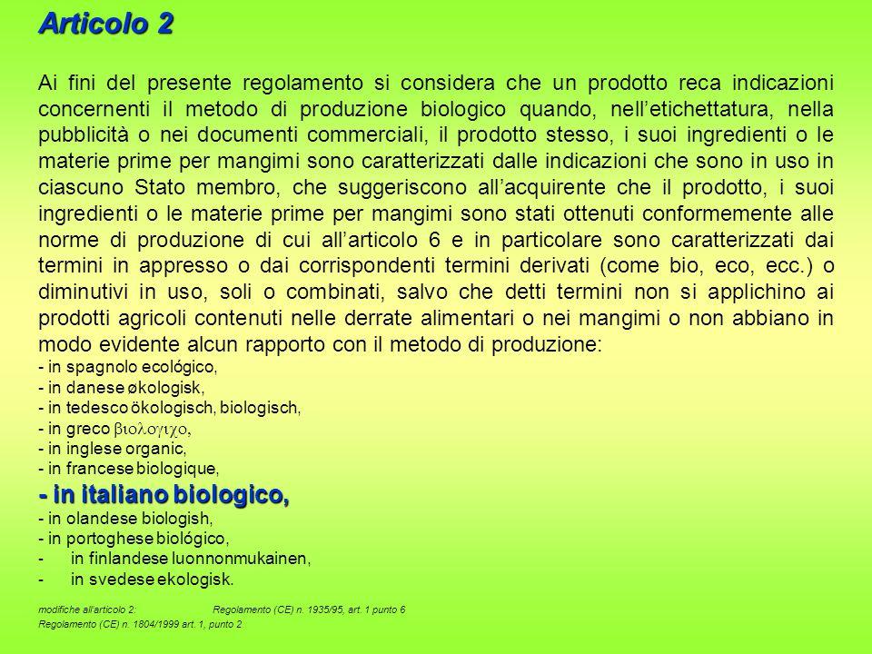 IMPORTAZIONE DA PAESI TERZI Articolo 11 1.